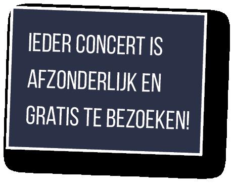 concerten zijn gratis